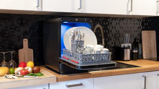 Bob mini dishwasher lave vaisselle lavastoviglie lavavajillas Geschirrspueler Vaarwasser Daan Tech open dishes