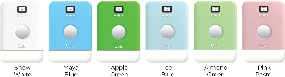 Bob countertop freestanding mini dishwasher colors white blue green pink Daan Tech