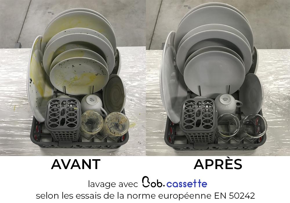 Bob cassette lavage efficace et optimale selon norme européenne EN 50242