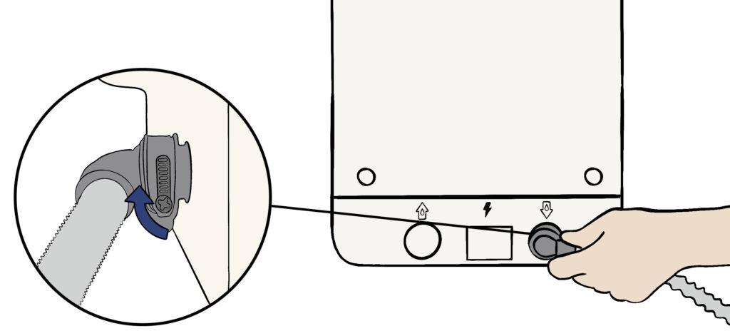Raccordement eaux usées bob mini lave vaisselle