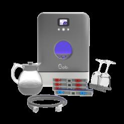 Bob mini lave vaisselle Made in France Daan Tech Premium Pack Edition Silver Argent effet métal vue face rendu 3D