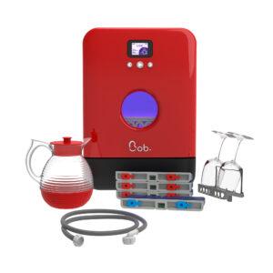 Bob mini lave vaisselle Made in France Daan Tech Premium Pack Edition Rouge vue face rendu 3D