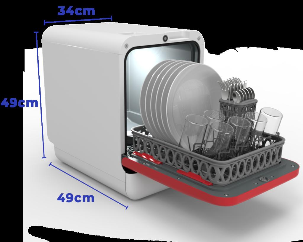 Bob mini lave vaisselle porte ouverte panier vaisselle taille dimensions