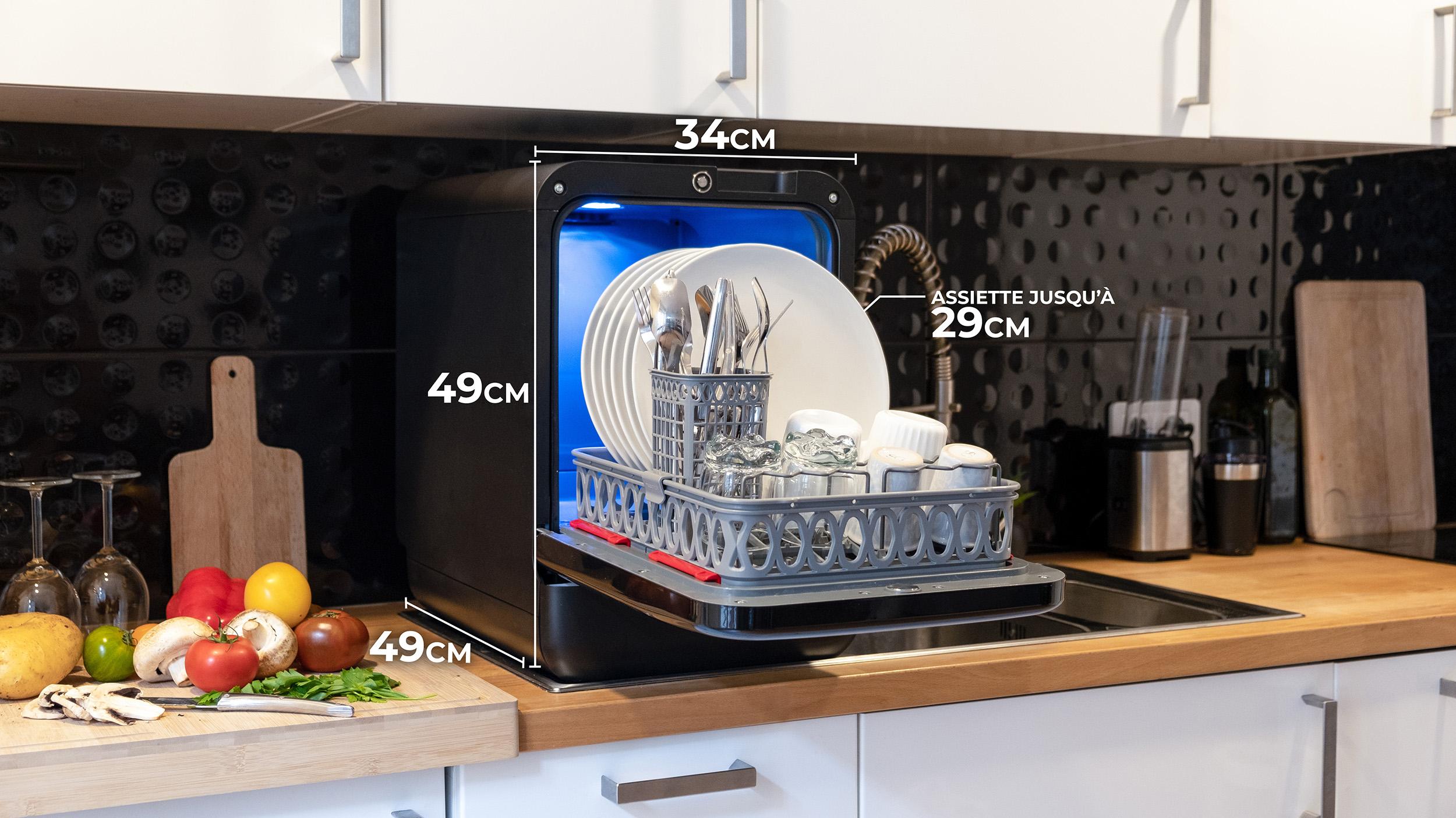 Dimension small mini lave vaisselle dishwasher small kitchen