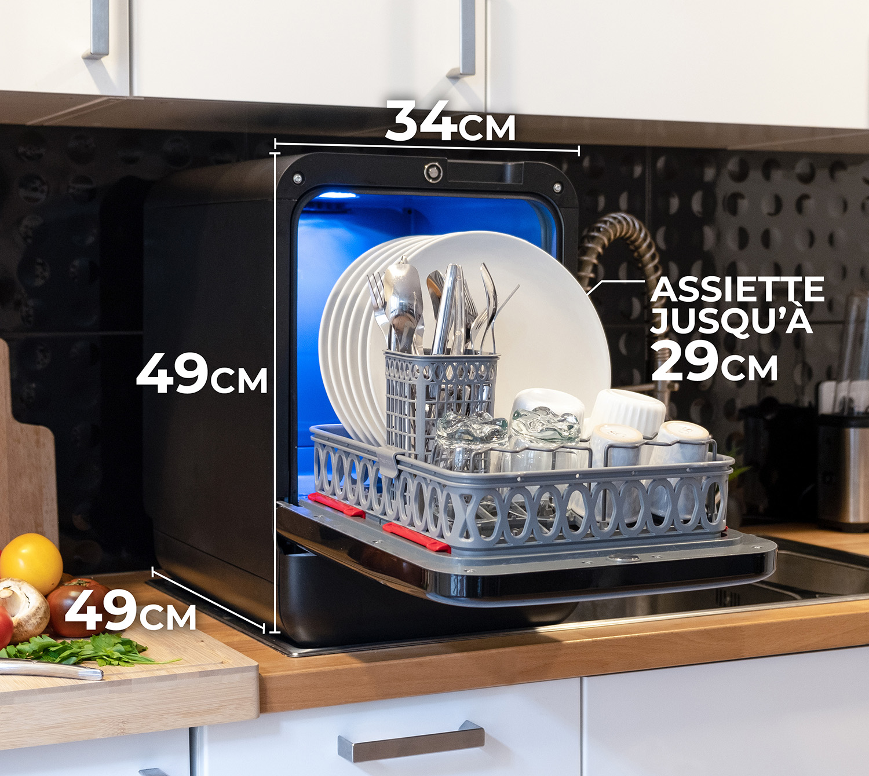Dimension small mini lave vaisselle dishwasher small kitchen mobile version