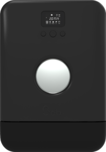 Bob minimalist le mini lave vaisselle vue de face edition noir