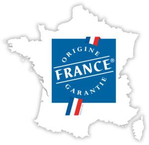 Logo du label Origine France Garantie (OFG), sur Daan Technologies. Le label garantissant le plus haut degré d'exigence de l'origine française de tout type de produit est le label Origine France Garantie.